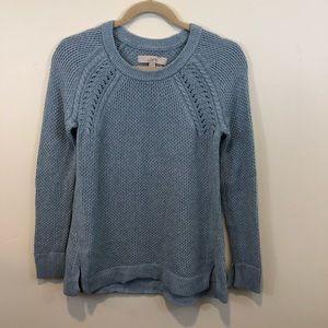 LOFT Light Blue Knit Sweater, Size XS